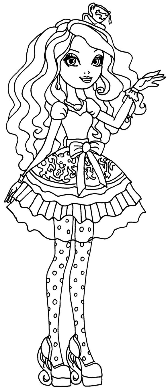586x1364 Best Of Ever After High Coloring Pages Cerise Hood And Maddaline