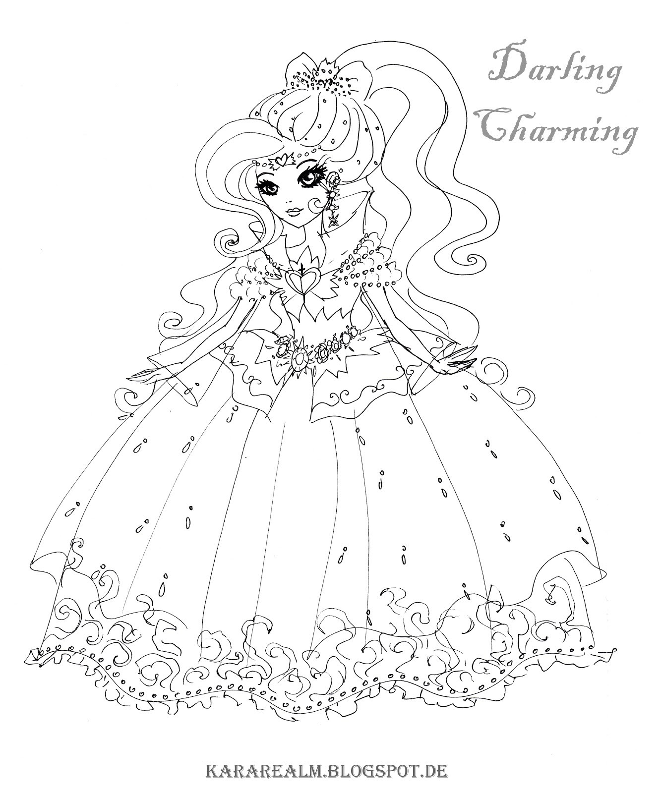 1331x1600 Cerise Coloring Pages Awesome Kara Realm Ever After High Coloring