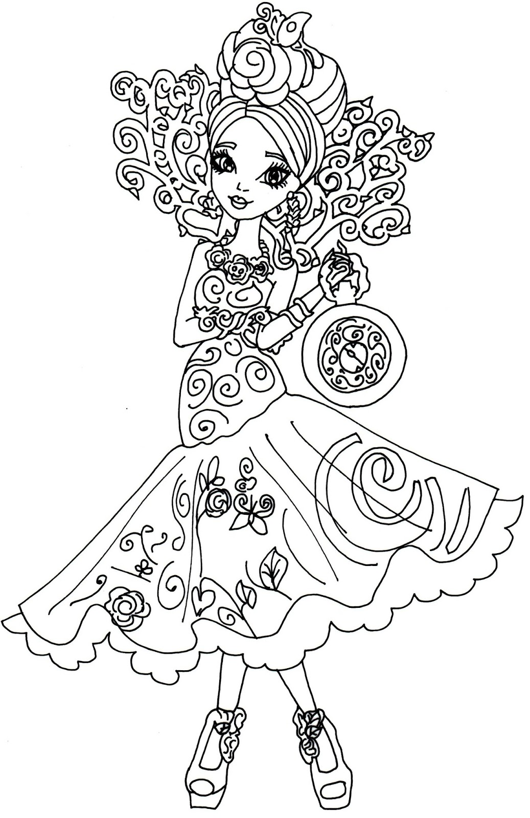 1037x1600 Briar Beauty Way Too Wonderland Ever After High Coloring Page