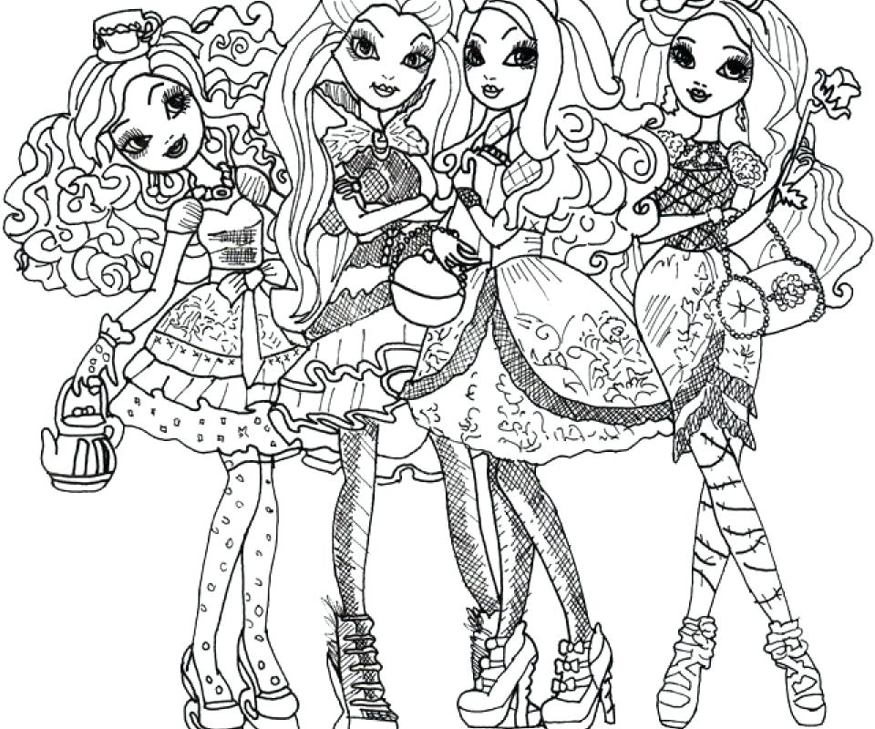 Ever After High Coloring Pages Dragon Games At Getdrawings Free
