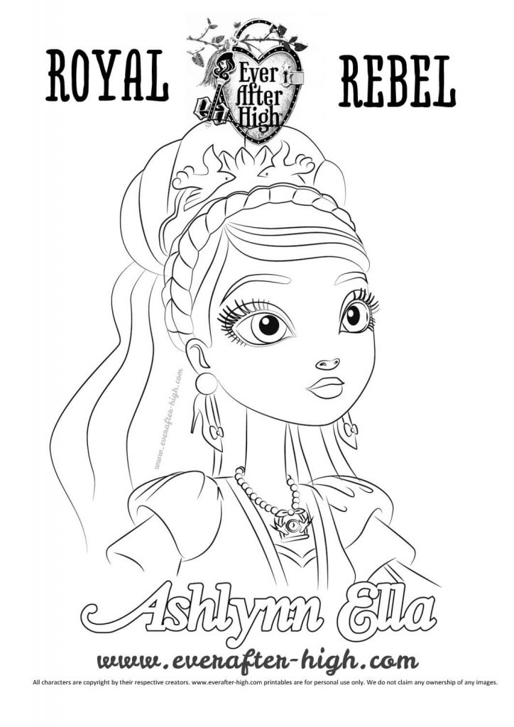724x1024 Ever After High Coloring Pages Breathtaking Madeline Hatter Kitty