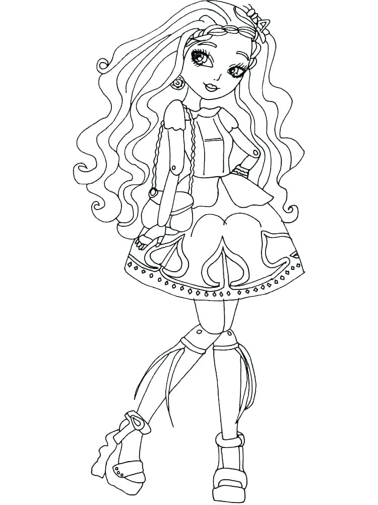 750x1000 Ever After High Coloring Pages Duchess Swan Best Images On Sheets