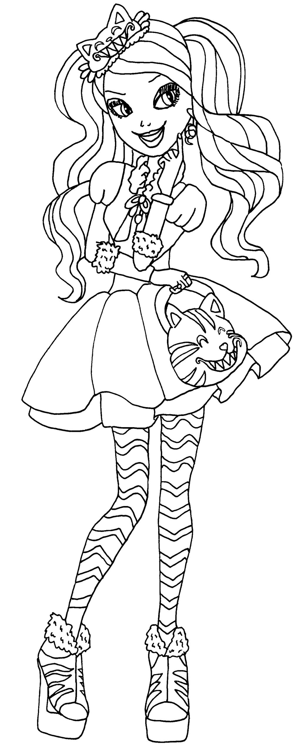 1024x2558 Ever After High Coloring Pages Holly Best Ideas For Printable