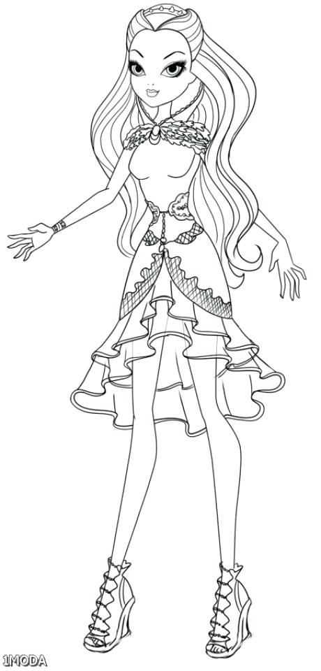 460x960 Ever After High Coloring Pages Kitty Cheshire Get This For Girls