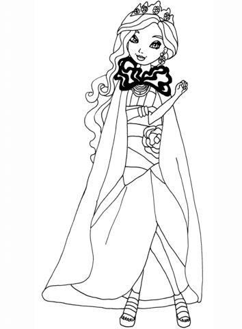 354x480 Ever After High Cupid Coloring Page