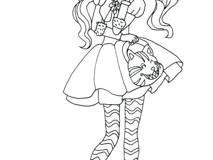 440x330 Ever After High Kitty Cheshire Coloring Pages Page Free Online