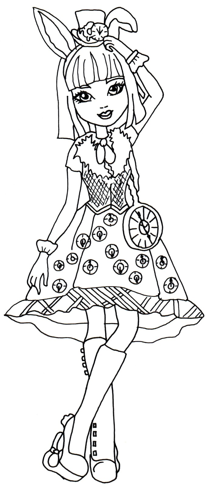 694x1600 Ever After High Way Too Wonderland Coloring Pages Fresh Free