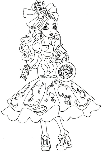 434x640 Free Printable Ever After High Coloring Pages Apple White Pages