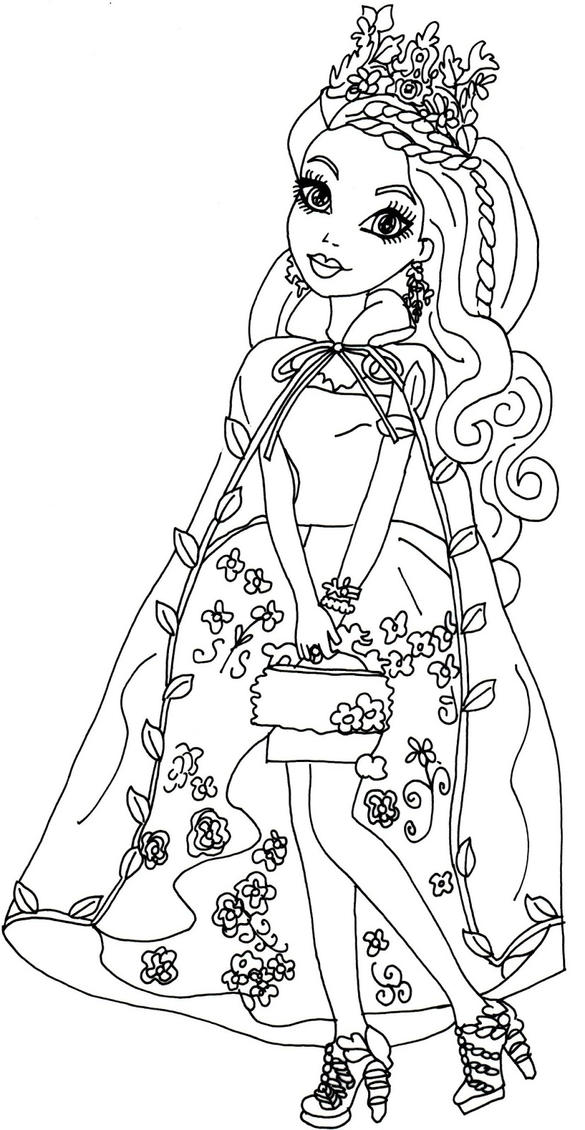 828x1600 Free Printable Ever After High Coloring Pages Ashlynn Ella Legacy