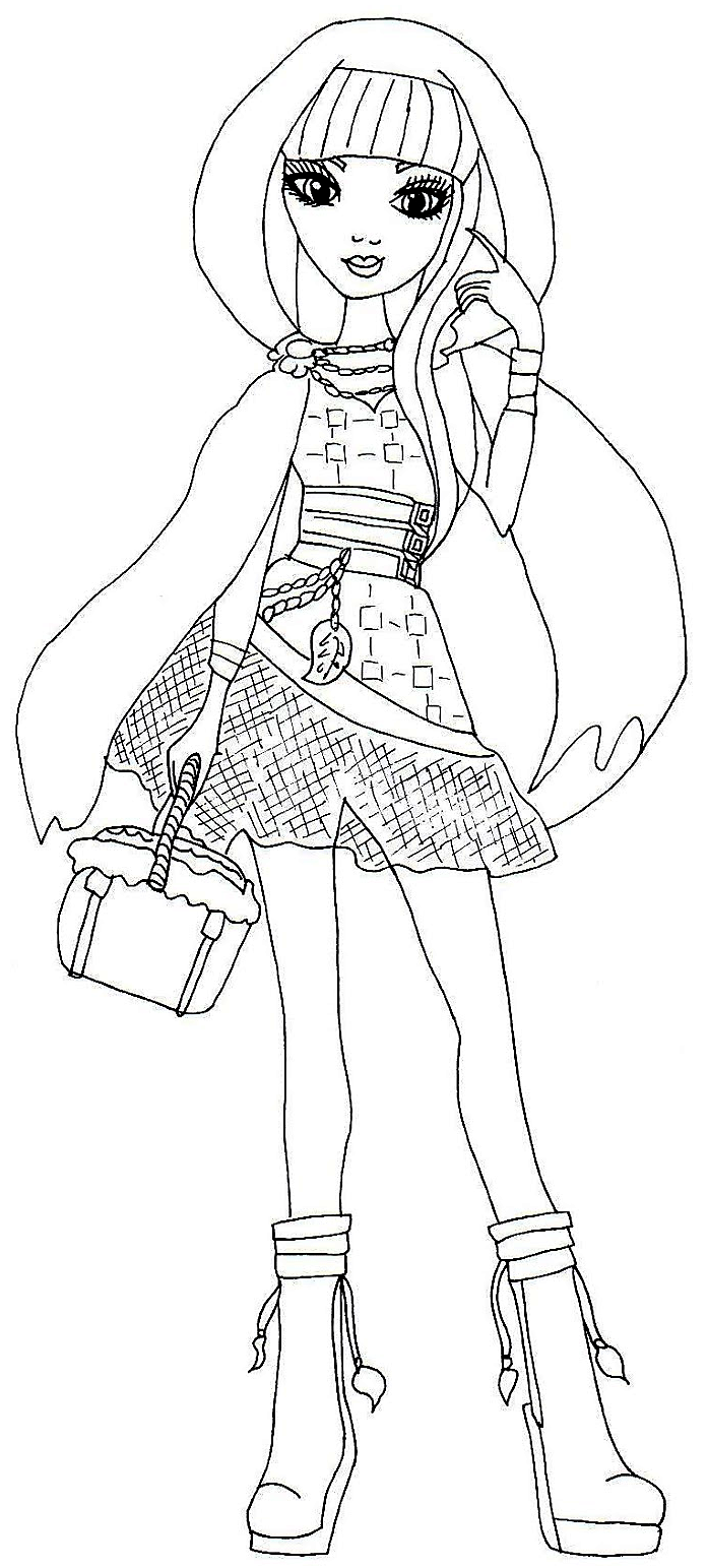 697x1543 Free Printable Ever After High Coloring Pages Cerise Hood Ever