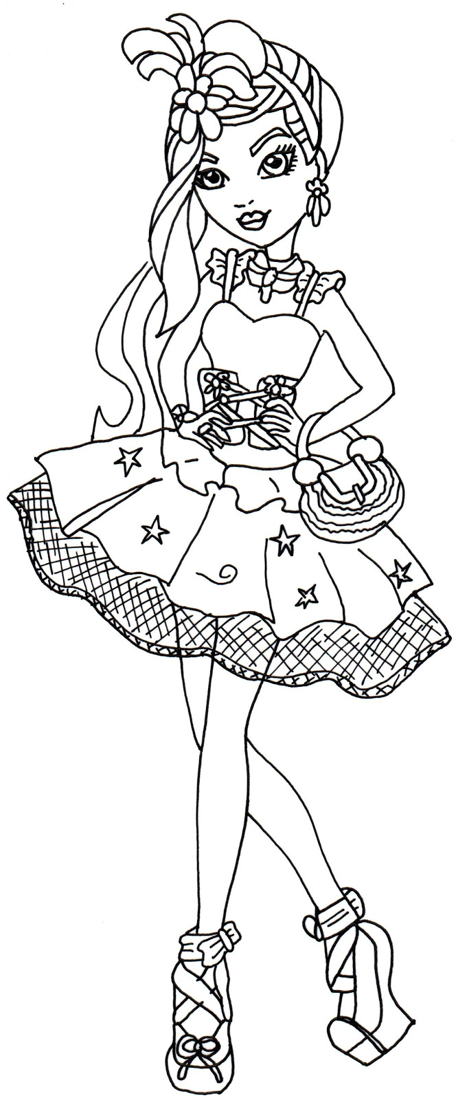 680x1600 Free Printable Ever After High Coloring Pages Duchess Swan Showy