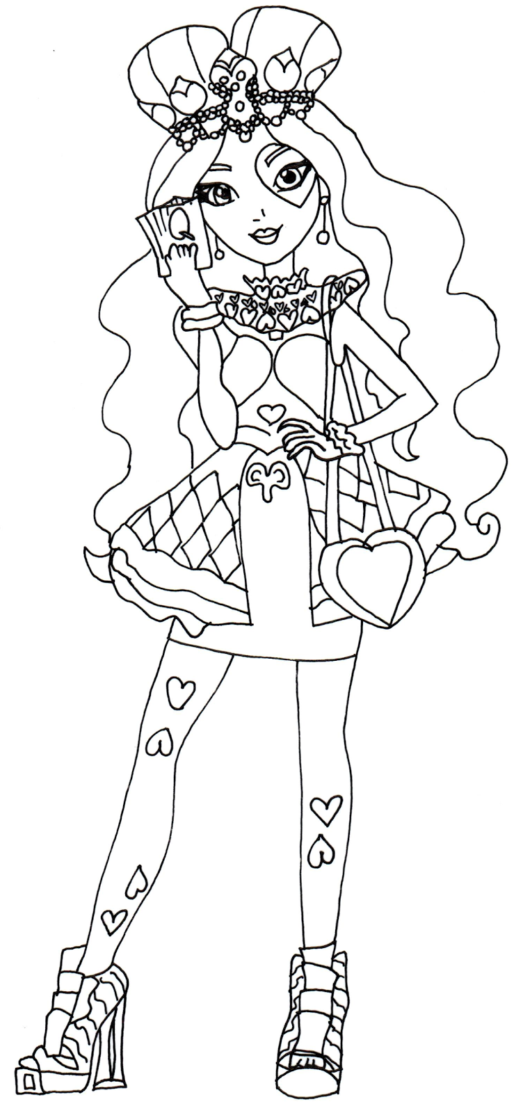 752x1600 Free Printable Ever After High Coloring Pages Lizzie Hearts Ever
