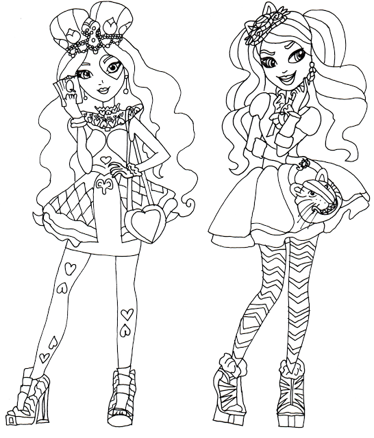 546x640 Free Printable Ever After High Coloring Pages Lizzie Hearts