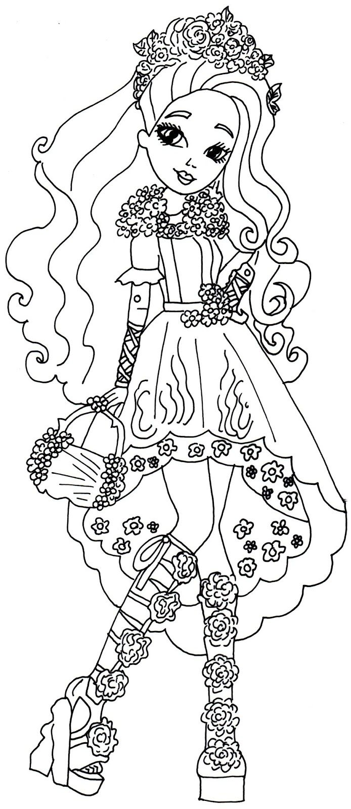 694x1600 Spring Unsprung Cedar Wood Ever After High Coloring Page