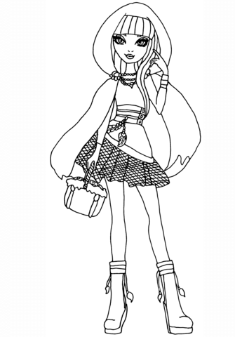 335x480 Ever After High Cerise Hood Coloring Page