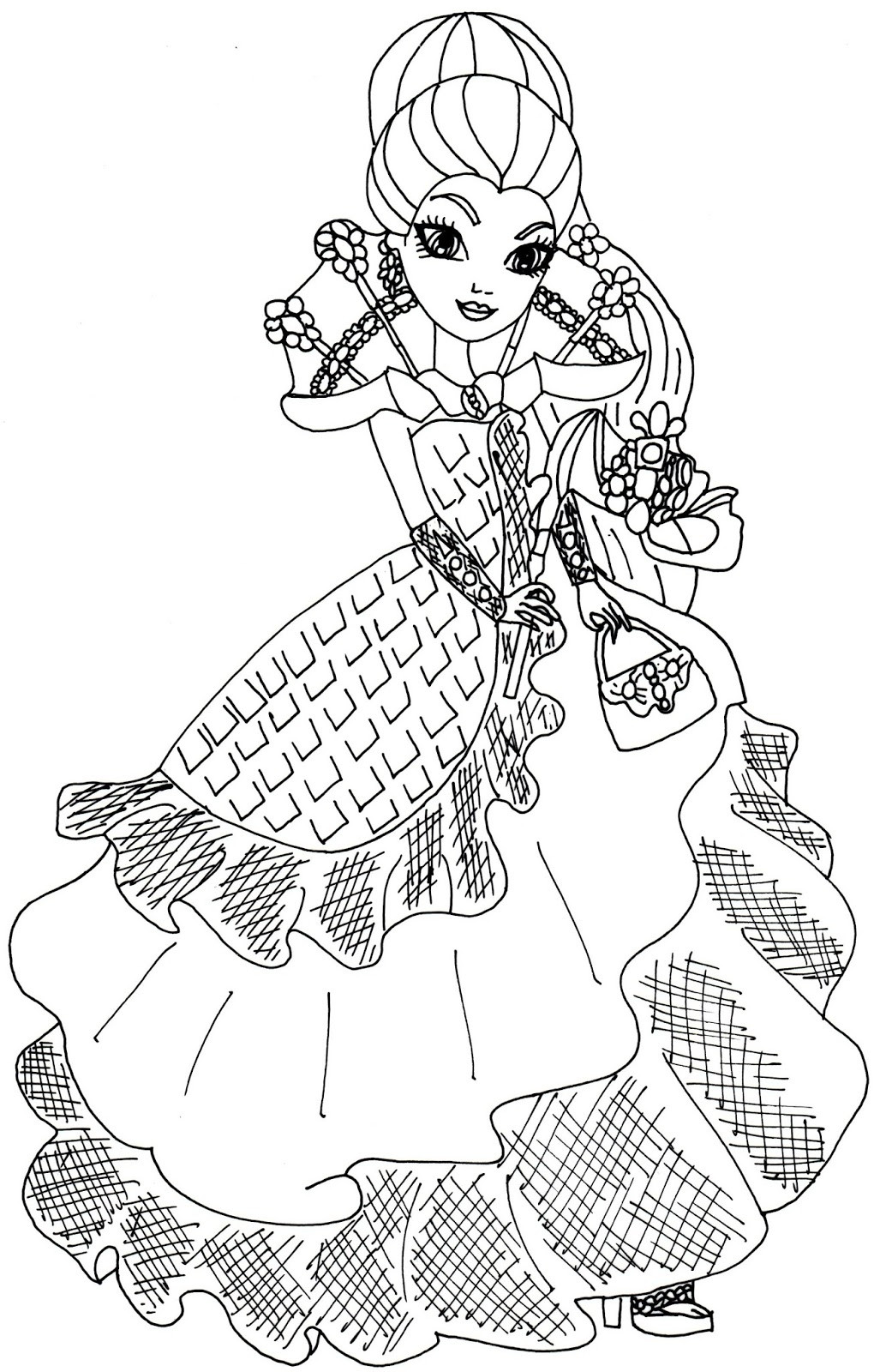 1020x1600 Ever After High Coloring Page Acpra