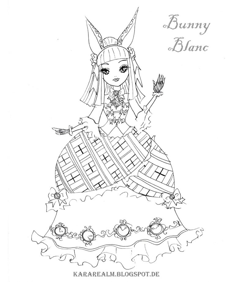 768x923 Ever After High Coloring Pages Bunny Blanc Best