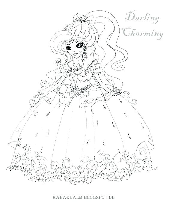 564x677 Ever After High Coloring Pages Kitty Cheshire Free Printable