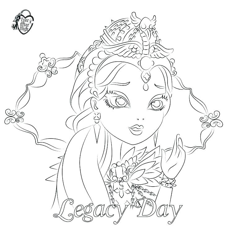 736x768 Ever After High Coloring Pages Ravens Coloring Page Ravens