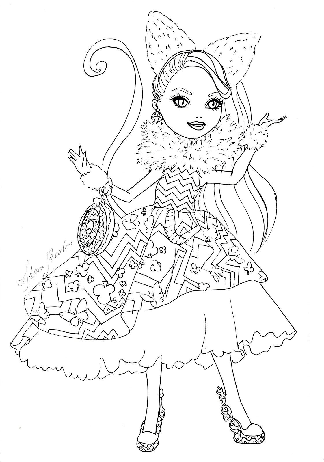 1122x1600 Ever After High Kitty Cheshire Coloring Pages