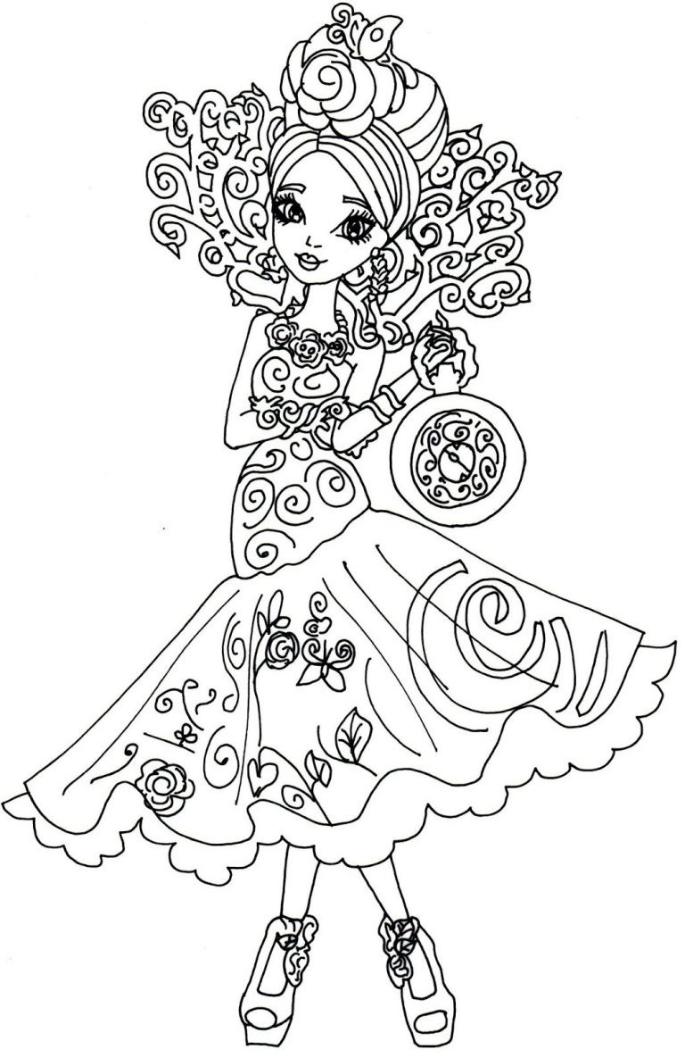 768x1185 Ever After High Legacy Day Apple Coloring Page Free Printable
