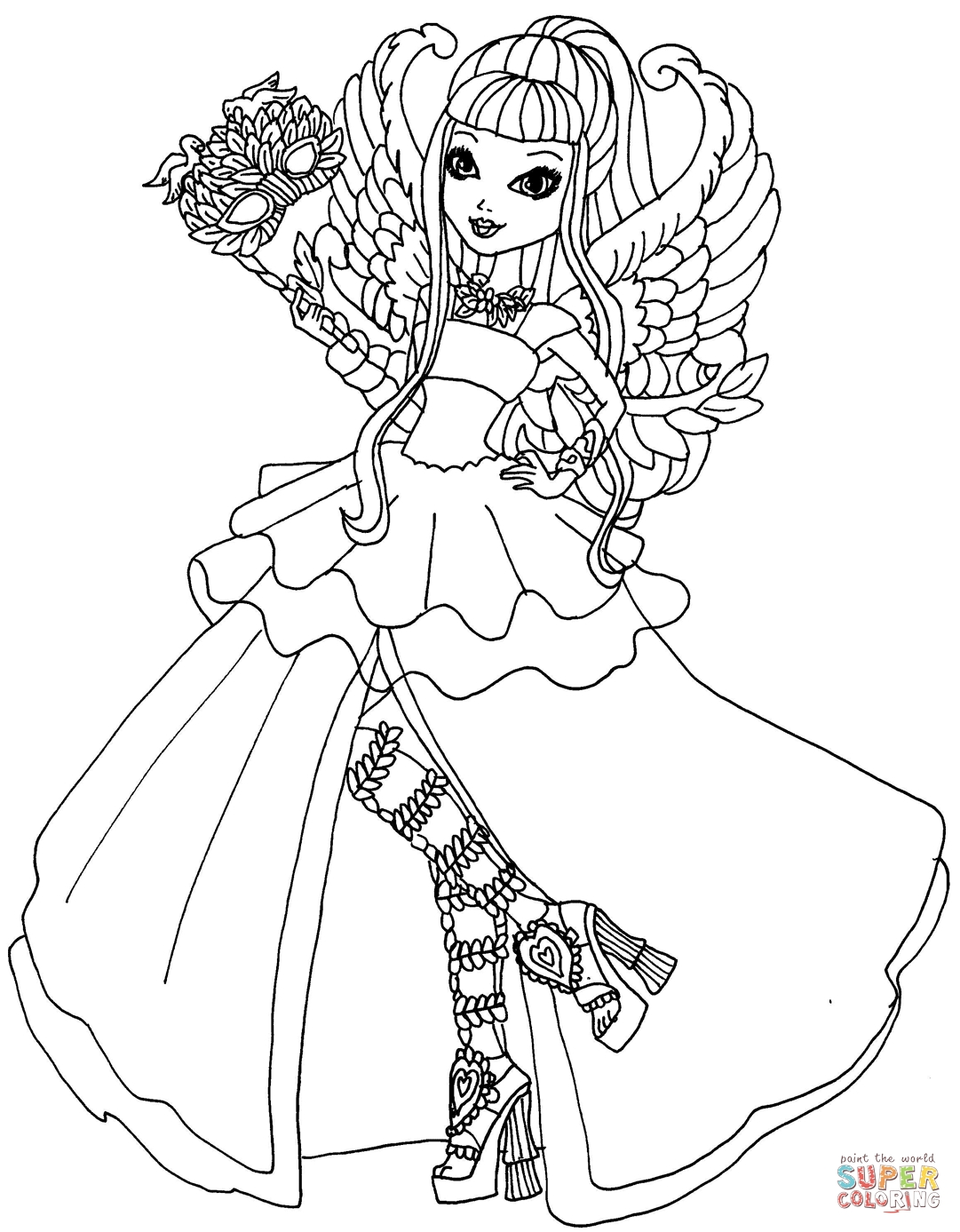 1081x1387 Ever After High To Color To Print Free Coloring Sheets