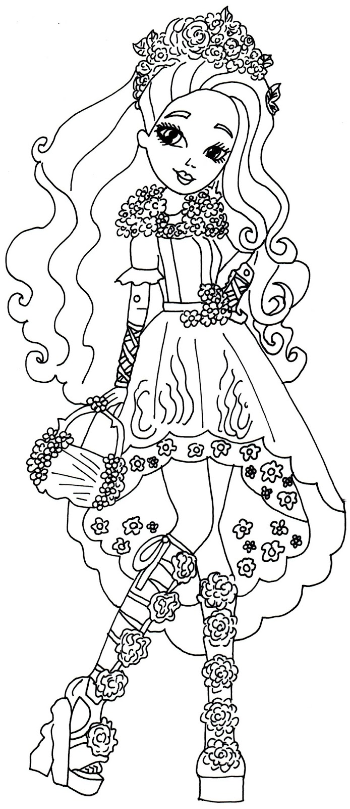 694x1600 Free Printable Ever After High Coloring Pages Cedar Wood Spring