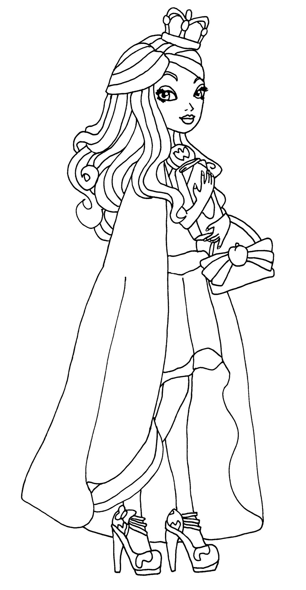 1024x1975 Ever After High Coloring Pages