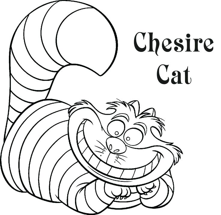 736x716 Cheshire Cat Coloring Pages Cat Printable Coloring Pages Cat