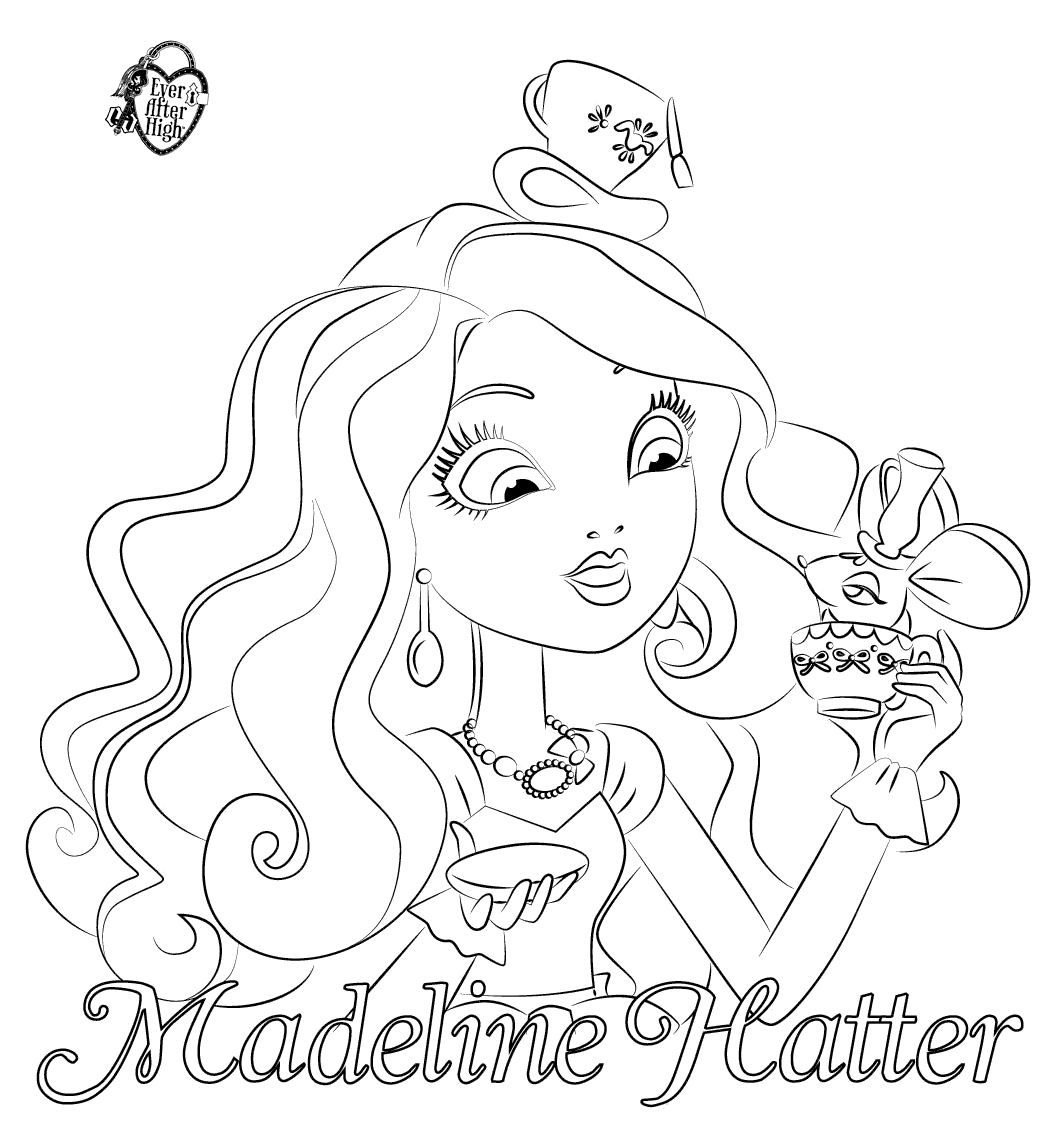 1063x1142 Ever After High Coloring Pages Dibujos De Madeline Hatter Para