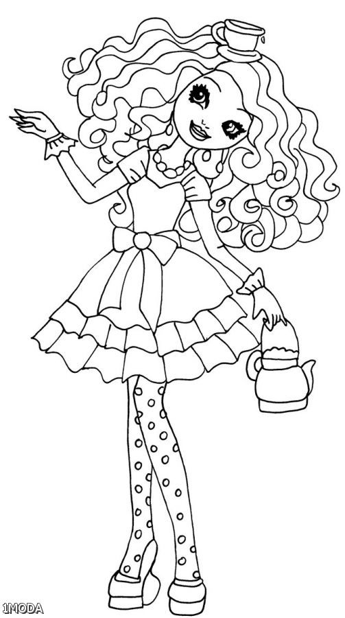 503x900 Ever After High Madeline Coloring Pages