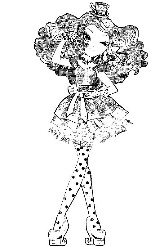 529x796 Ever After High Madeline Hatter Coloring Page