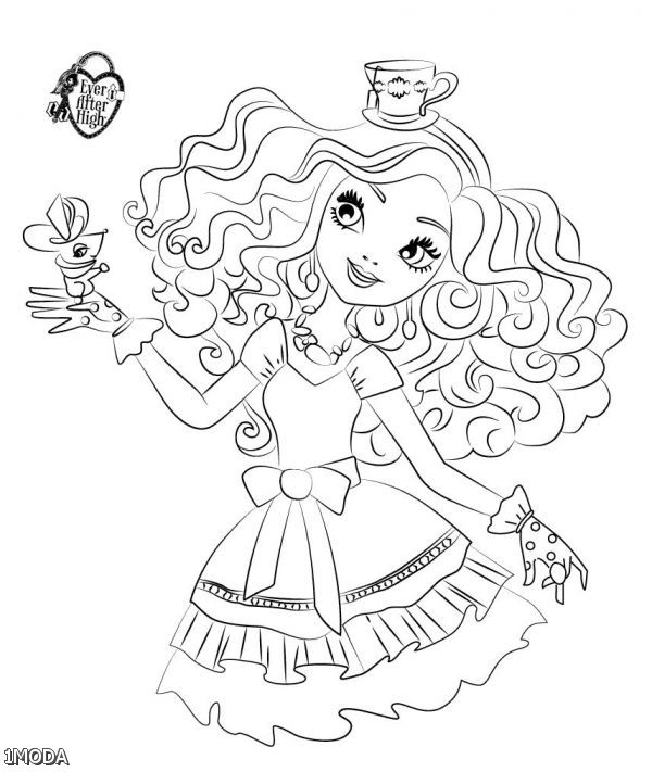 600x711 Ever After High Madeline Hatter Coloring Pages