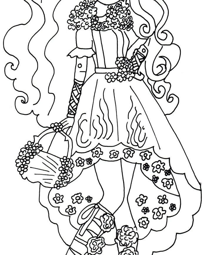 694x864 Everr High Coloring Pages For Kids Colouring Kitty Cheshire Raven