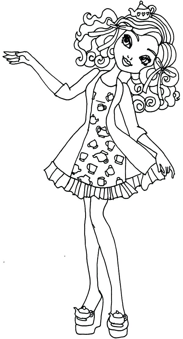 600x1108 Madeline Coloring Pages Ever After High Coloring Pages Madeline