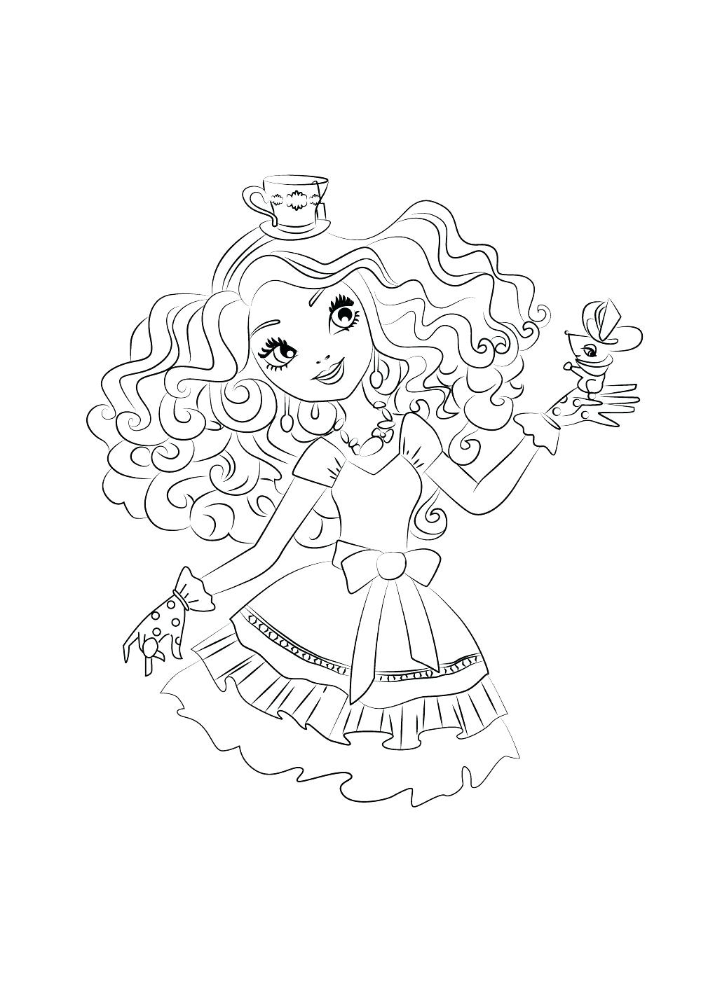 1000x1415 Peachy Design Madeline Coloring Pages Printable Ever After High