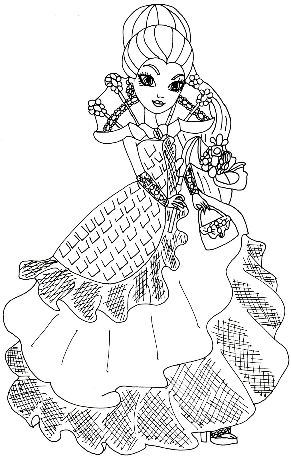 1020x1600 Best Of Ever After High Coloring Pages Cerise Hood And Maddaline