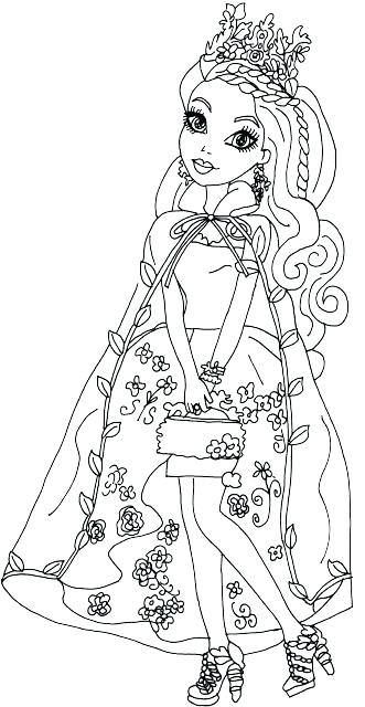 Ever After High Coloring Pages Madeline Hatter at GetDrawings.com ...