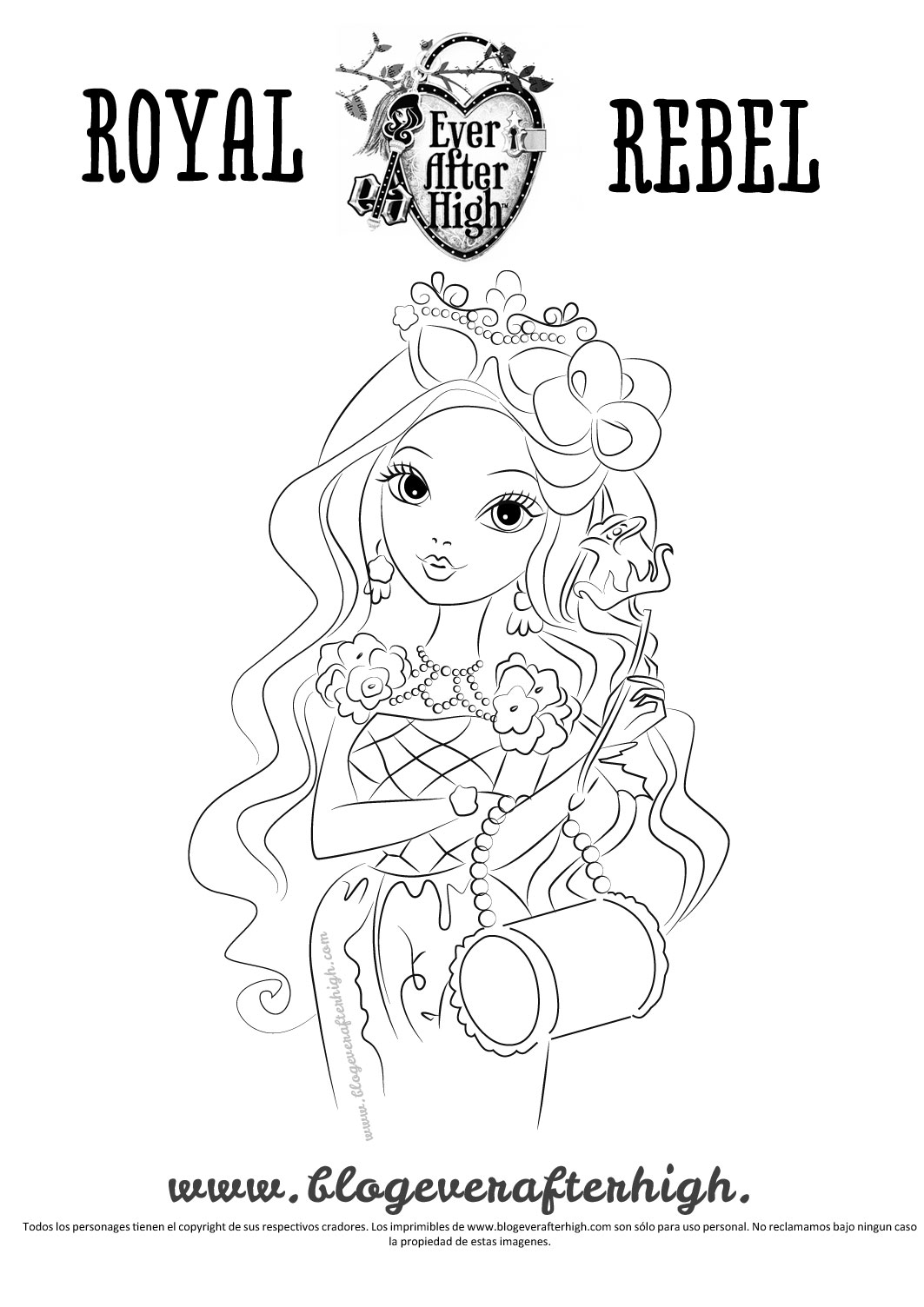 1063x1504 Ever After High Briar Beauty Coloring Pages