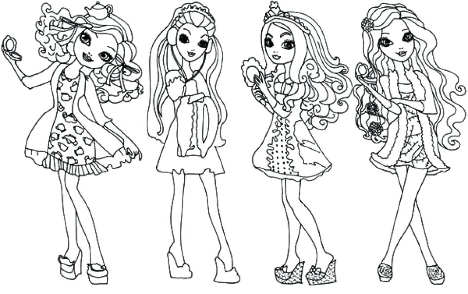 960x603 Ever After High Coloring Pages Kitty Ever After High Coloring