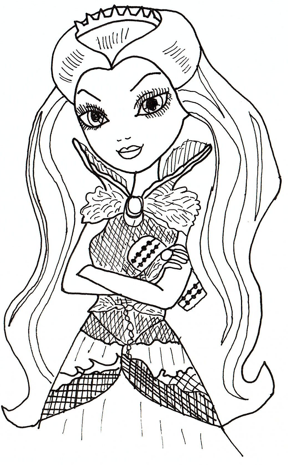 992x1600 Ever After High Coloring Pages Raven Queen Free Printable Ever