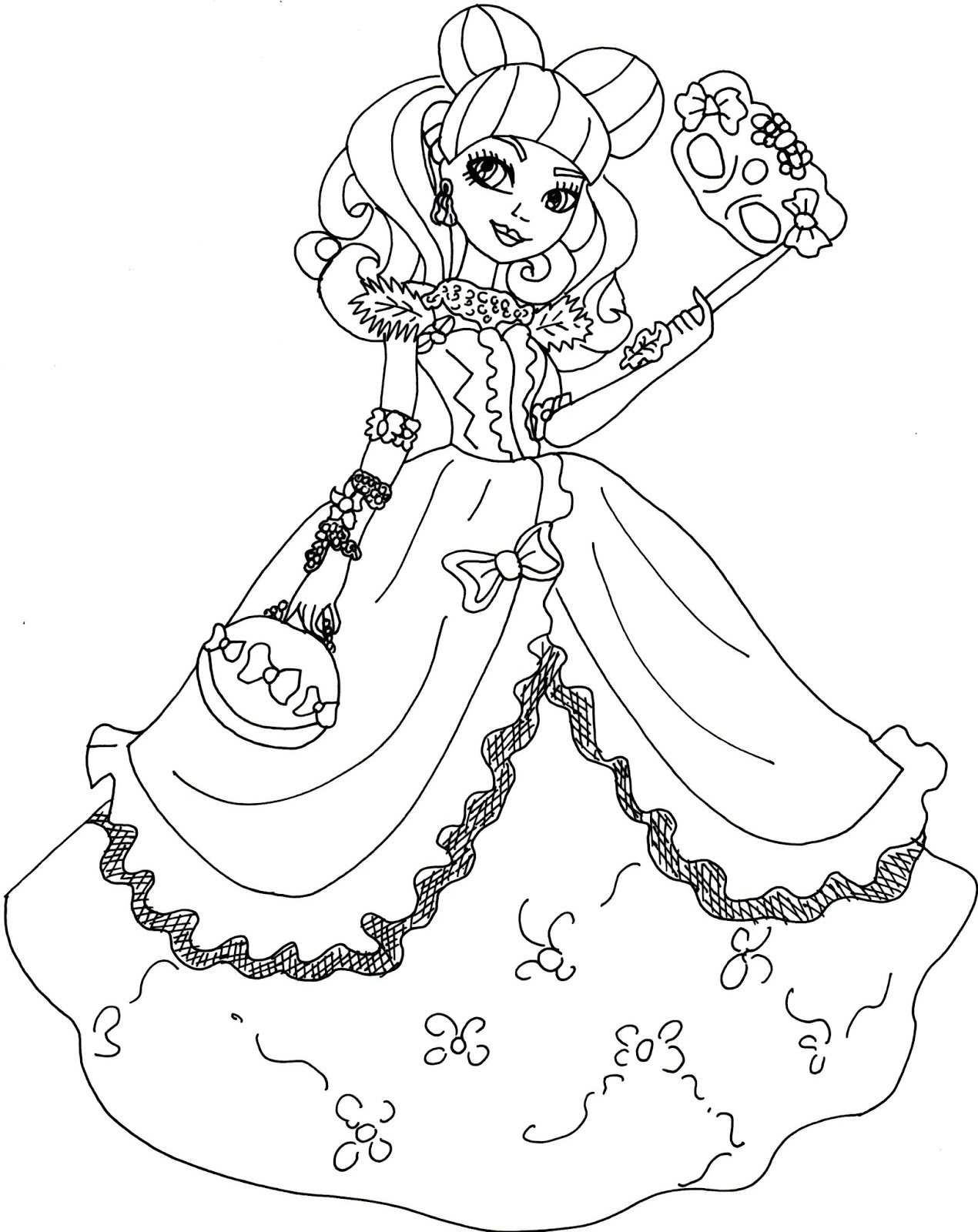 Ever After High Coloring Pages Raven At Getdrawings Free Download