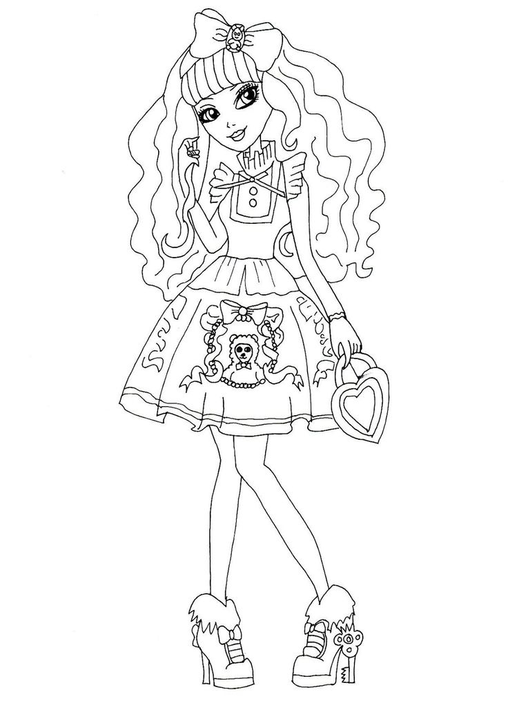 736x1041 Ever After High Coloring Pages Raven