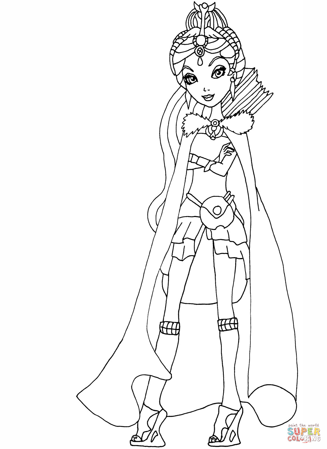 1144x1568 Ever After High Legacy Day Raven Coloring Page Pages