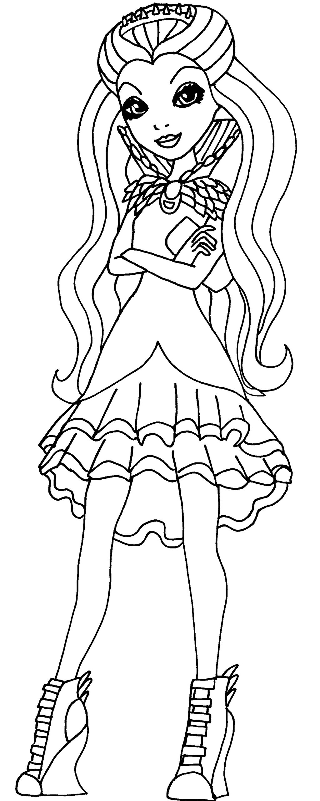 1024x2560 Ever After High Madeline Hatter Coloring Pages
