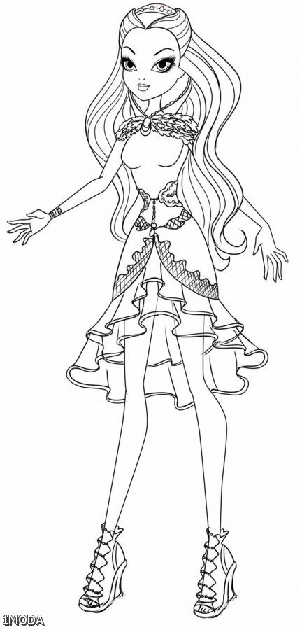 432x900 Ever After High Raven Coloring Pages