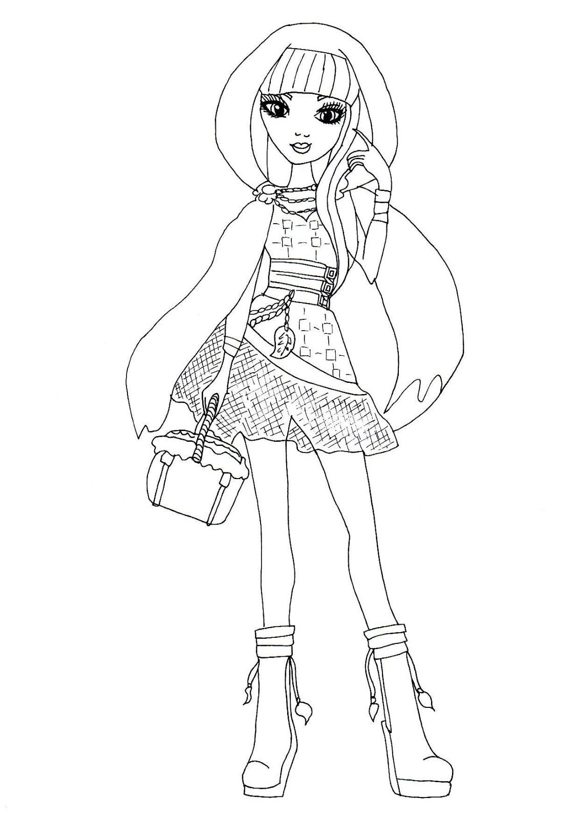 1131x1600 Free Printable Ever After High Coloring Pages Cerise Hood Ever