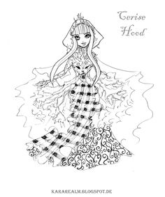 236x283 Kara Realm Ever After High Coloring Pages Raven Queen