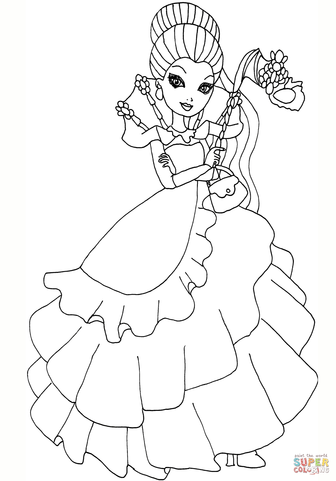 1097x1570 New Coloring Pages Raven Queen Ever After High Throne Ming Ever