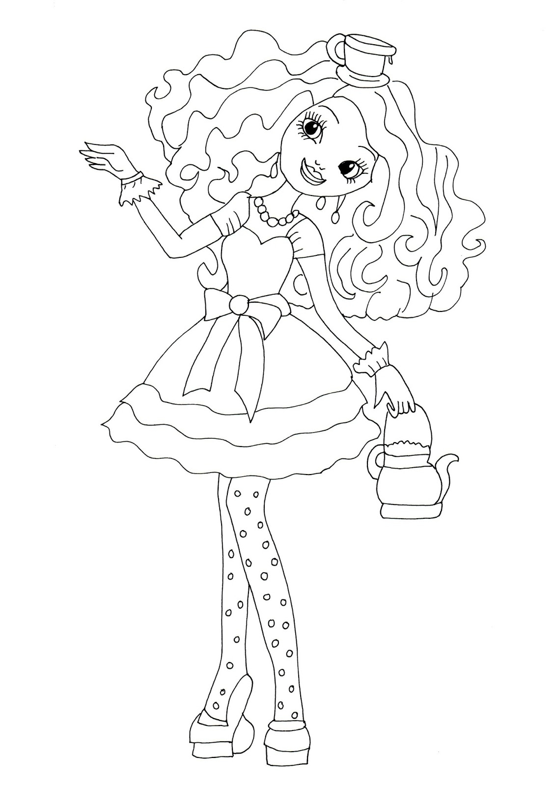 1132x1600 Raven Ever After High Coloring Pages Printable Coloring For Kids